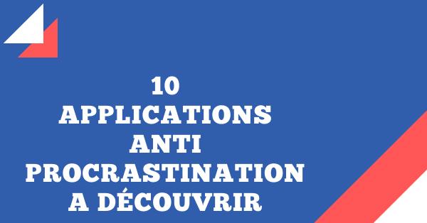 10 applications anti-procrastination