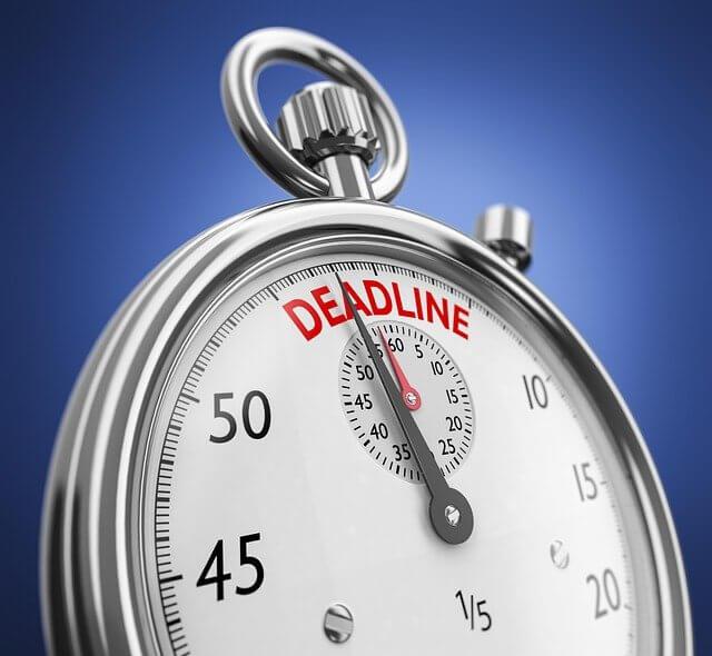 N'oubliez pas de vous fixer un délai pour votre but à atteindre.